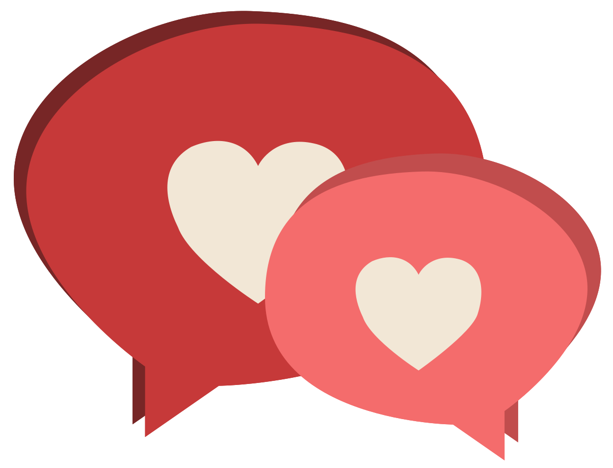 chat di cuore png