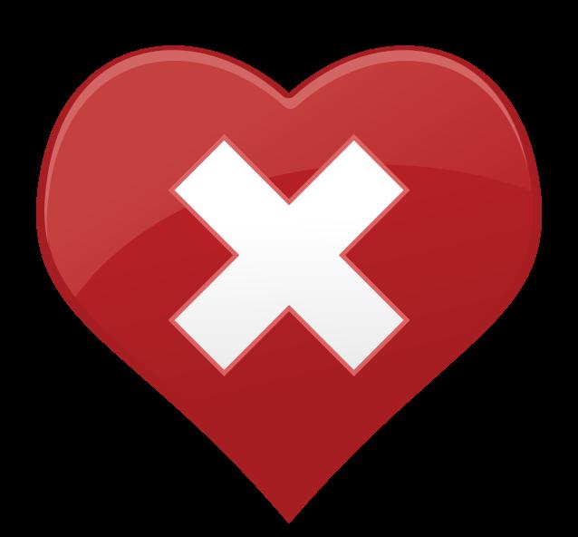 Cruz de icono de corazón png