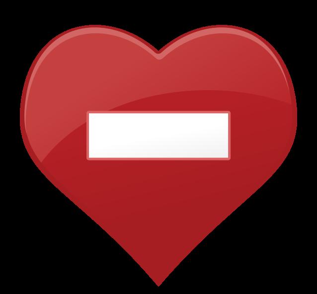 ícone de coração sem entrada png
