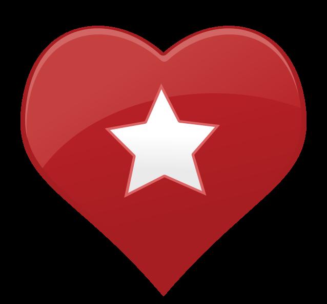 estrela de ícone de coração png