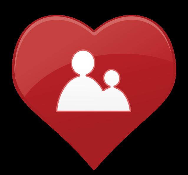 pessoas de ícone de coração png