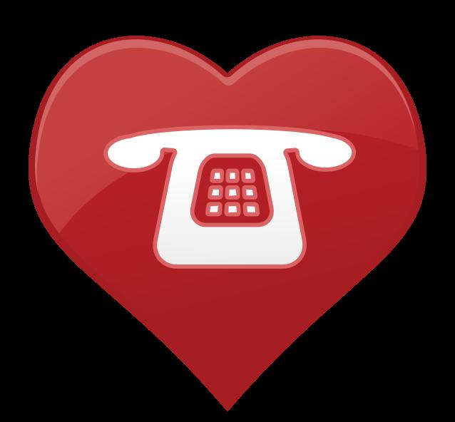 Herz Symbol Telefon png