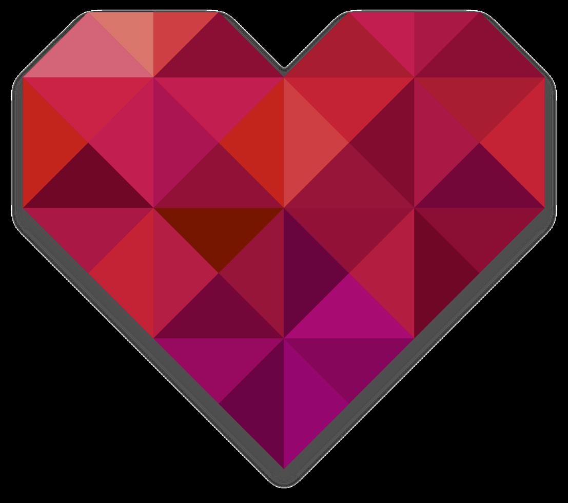 corazón bajo poli png