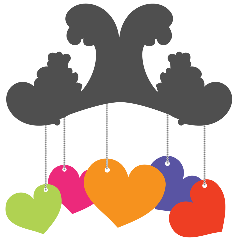 Heart hanging png