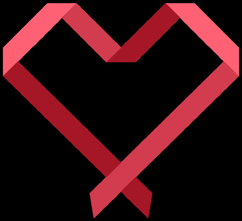 nastro del cuore png