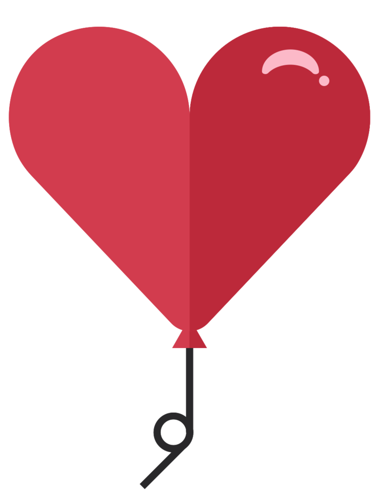 globo del corazón png