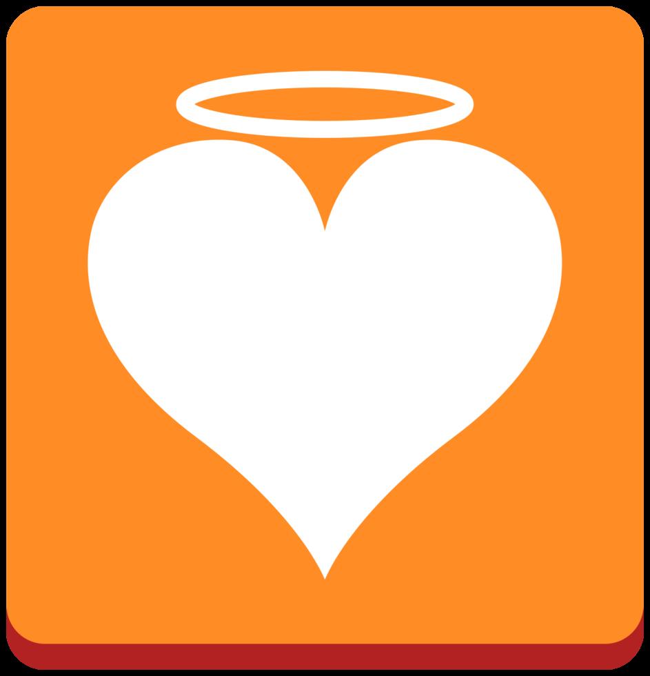 anjo de ícone de coração png