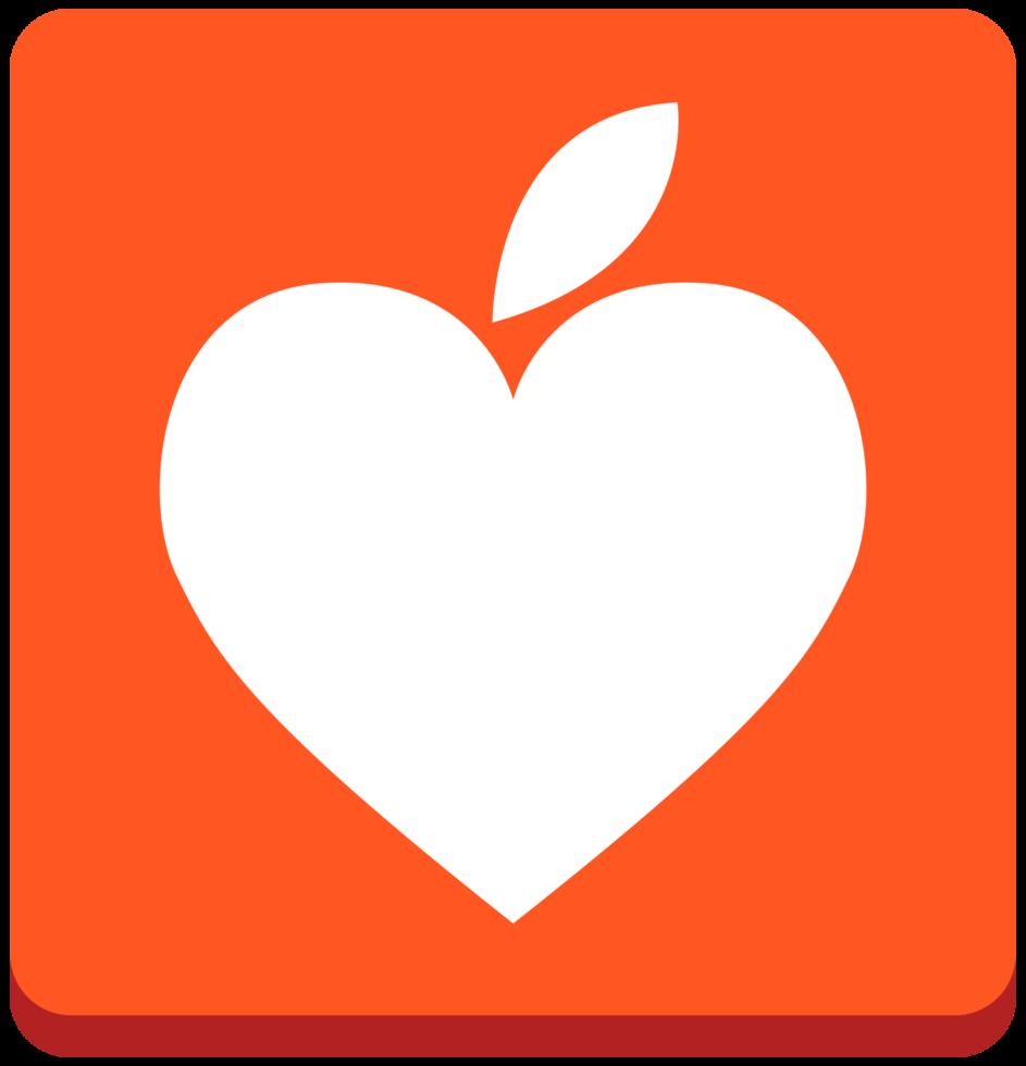 feuille d'icône coeur png