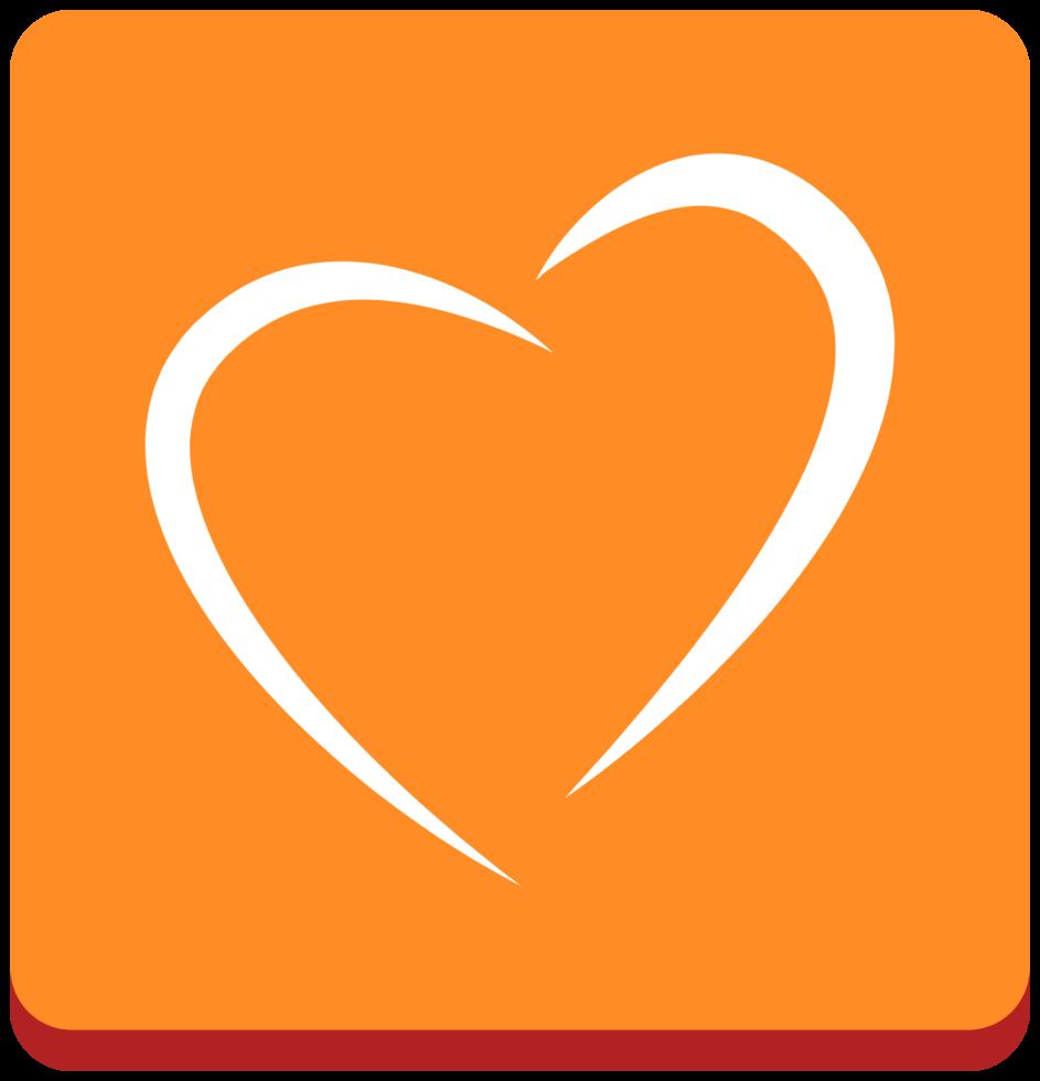 hart pictogram lijntekeningen png
