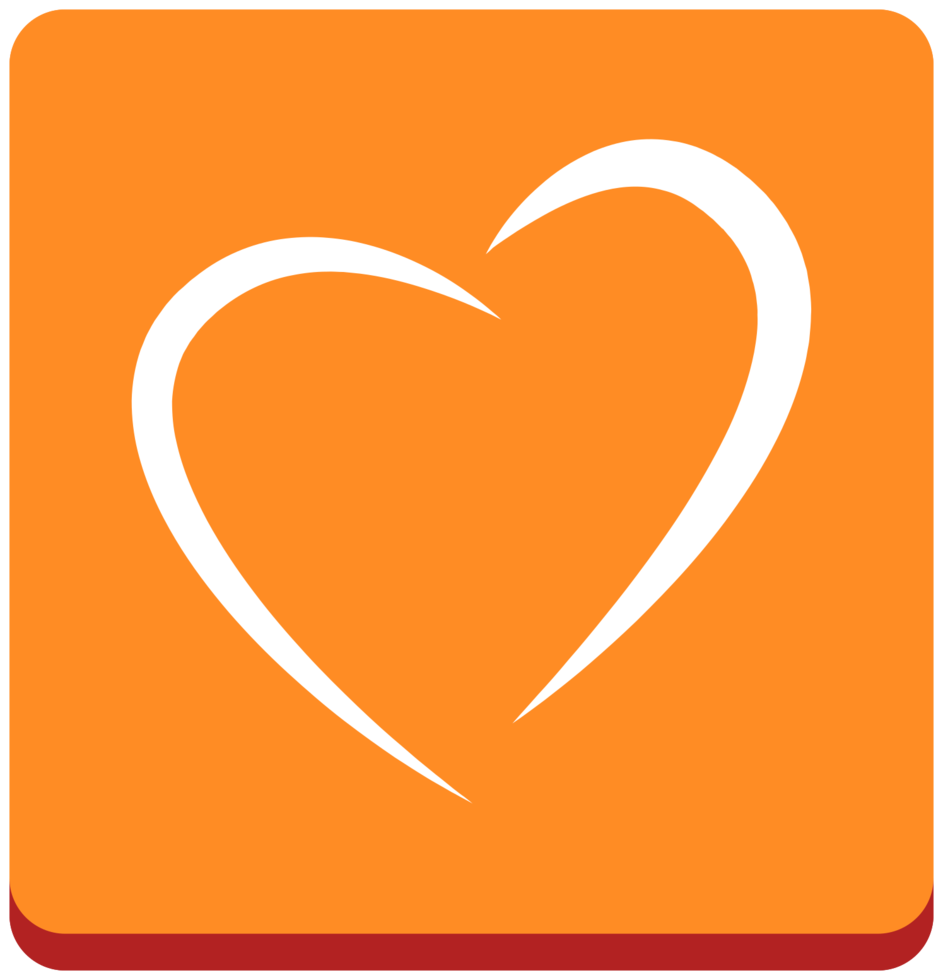 hjärta ikon linje konst png