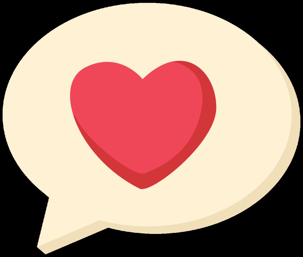 bulle de dialogue coeur png