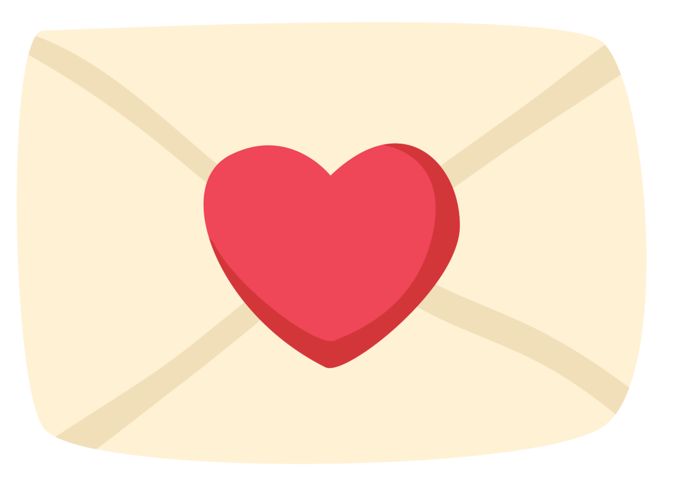Heart letter png