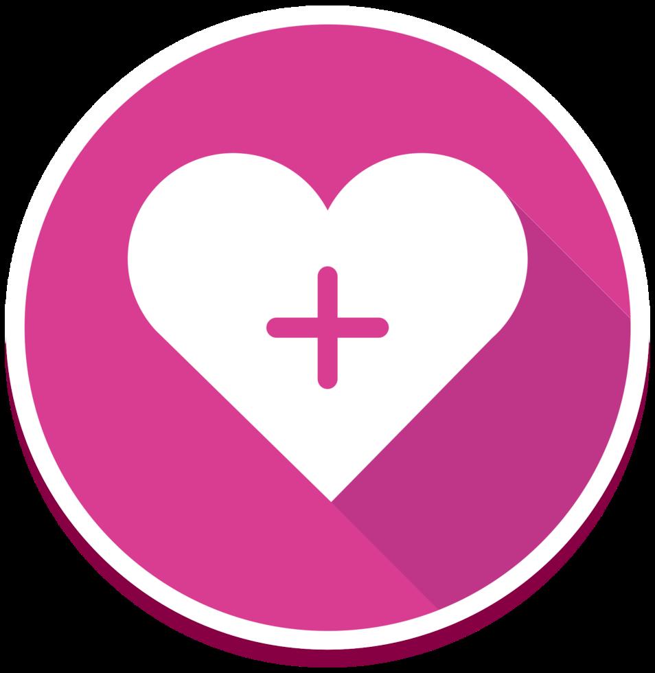 icono del corazón plus png