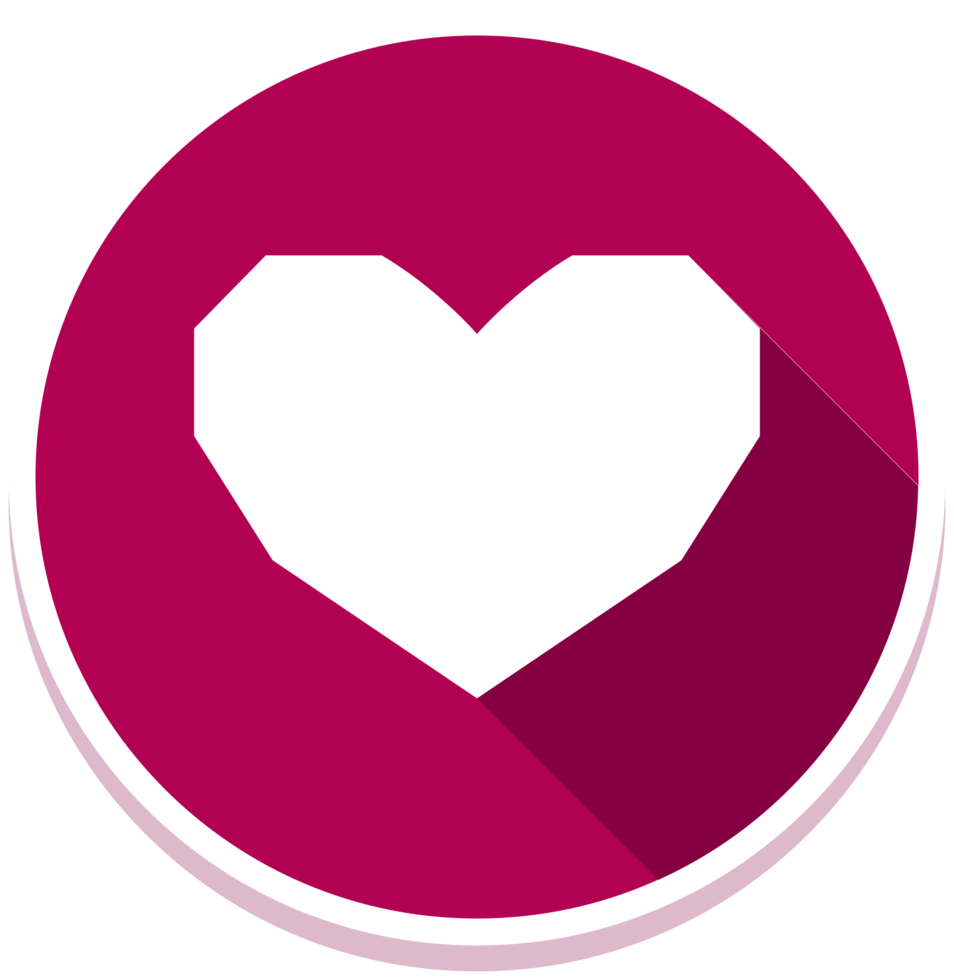 ícone de coração lowpoly png