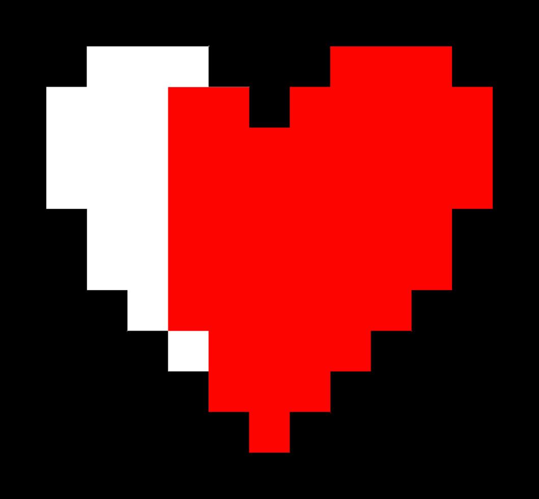 hjärta pixelate png