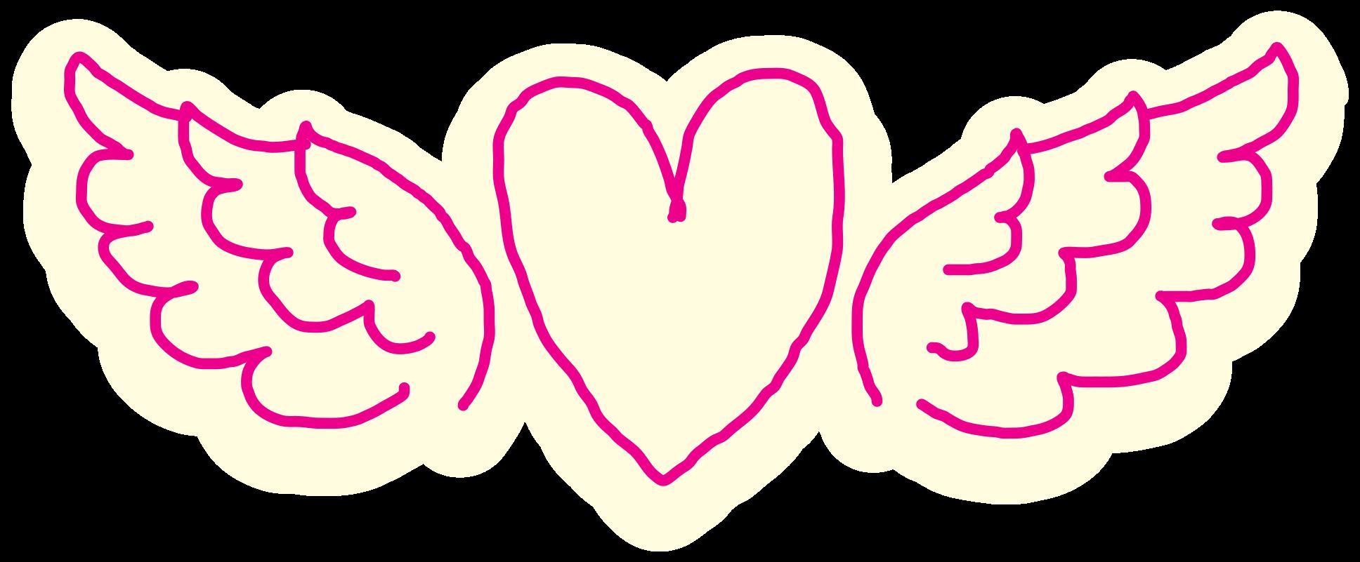Herz Hand gezeichneten Flügel png