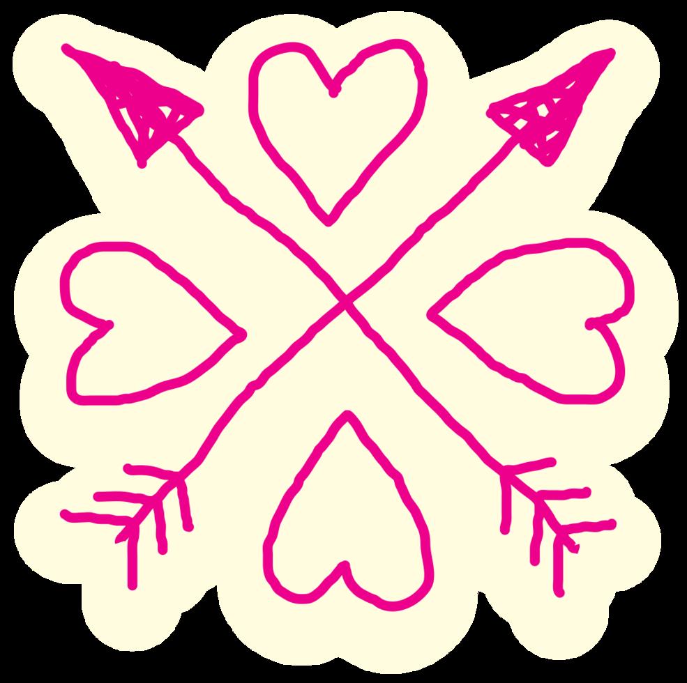 mão coração desenhado png