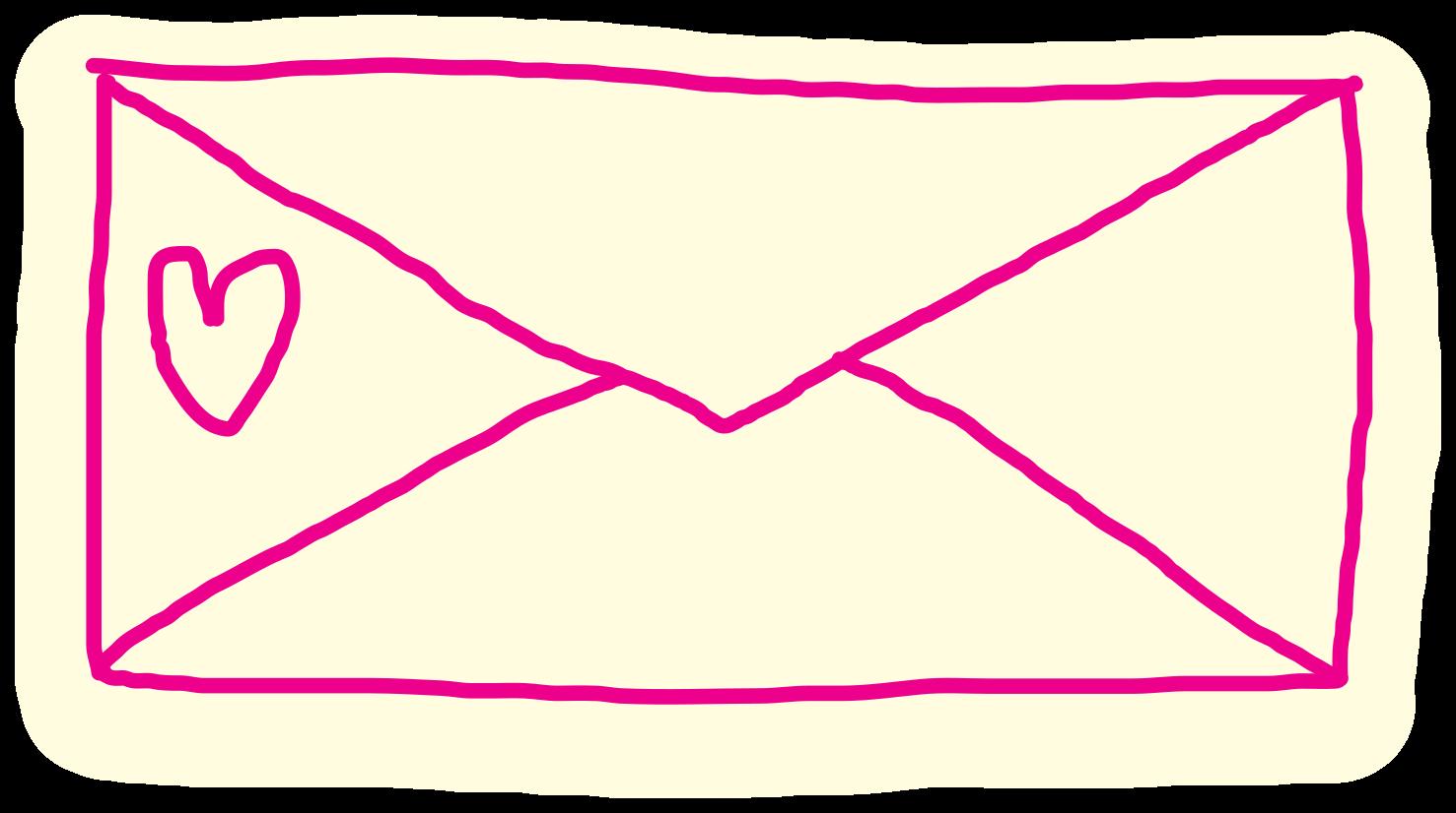 lettre de coeur dessiné à la main png