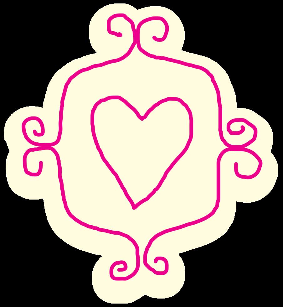 corazón dibujado a mano png