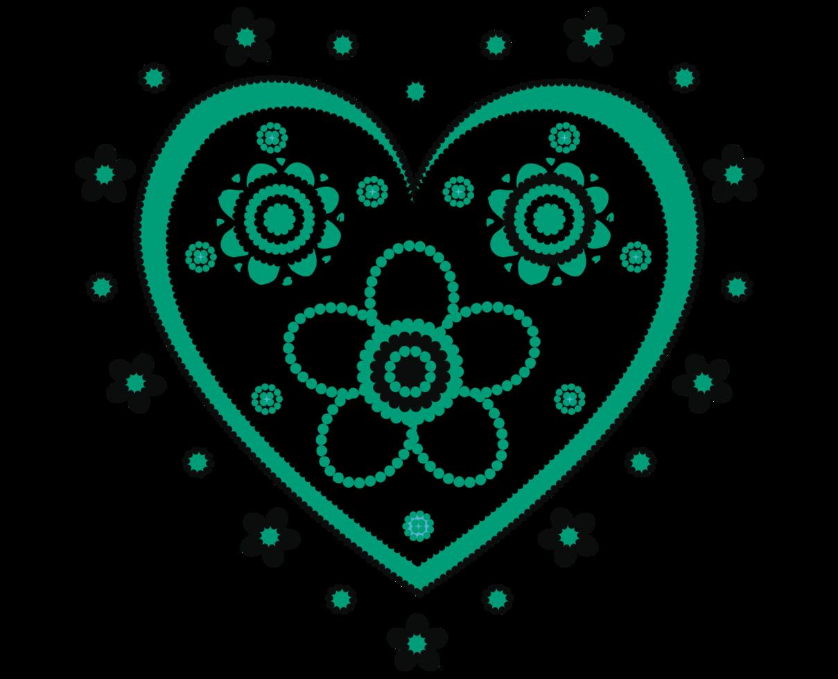 hart bloemen png