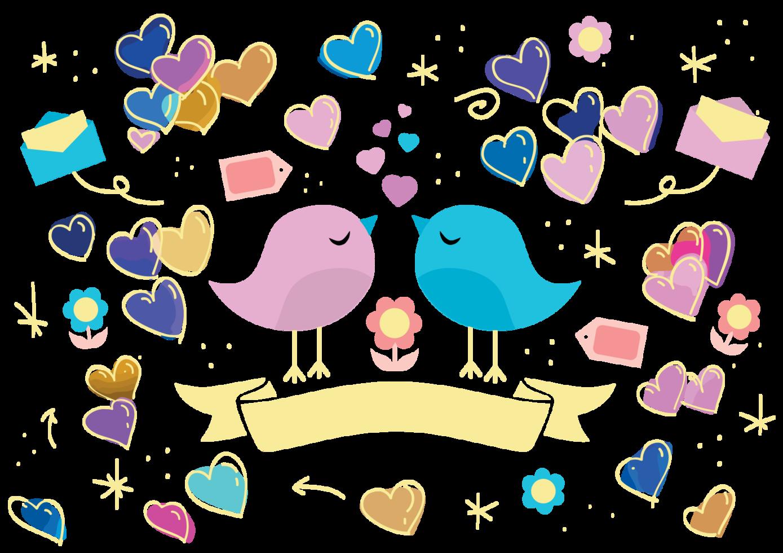 liebe Vogel und Herz png
