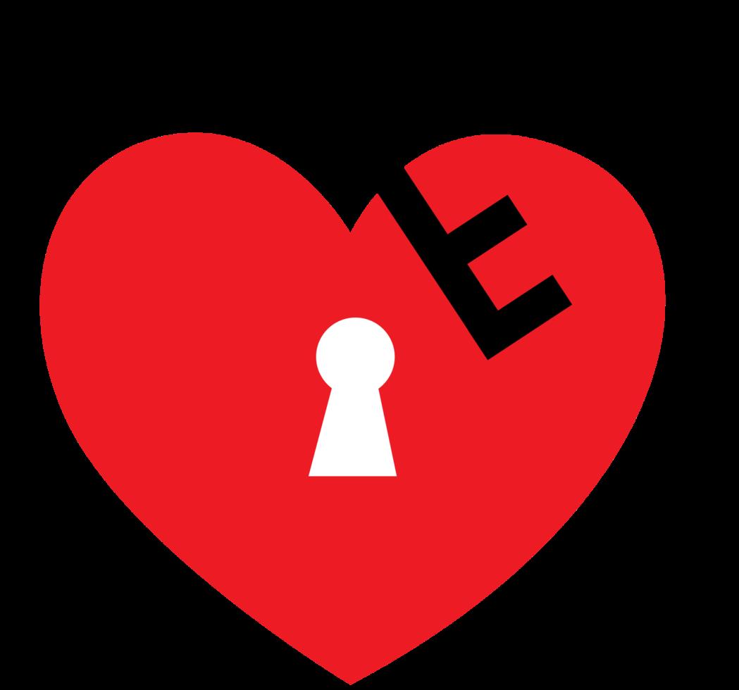 clé de coeur png