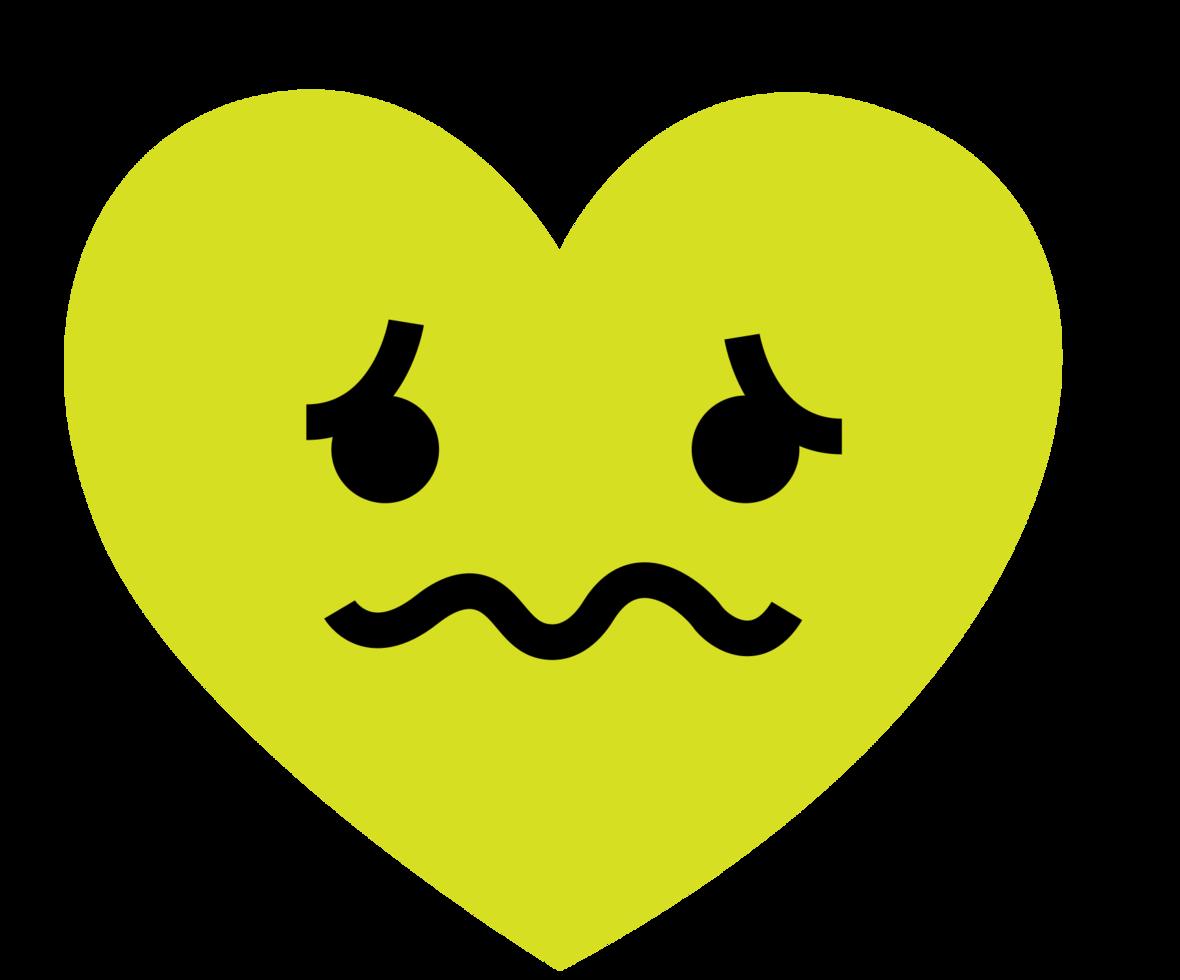 emoji cuore triste png