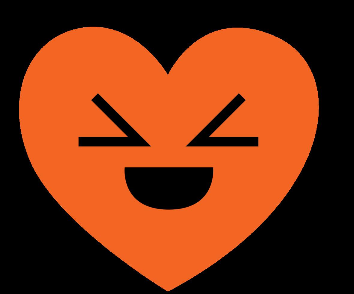 coeur emoji rire png