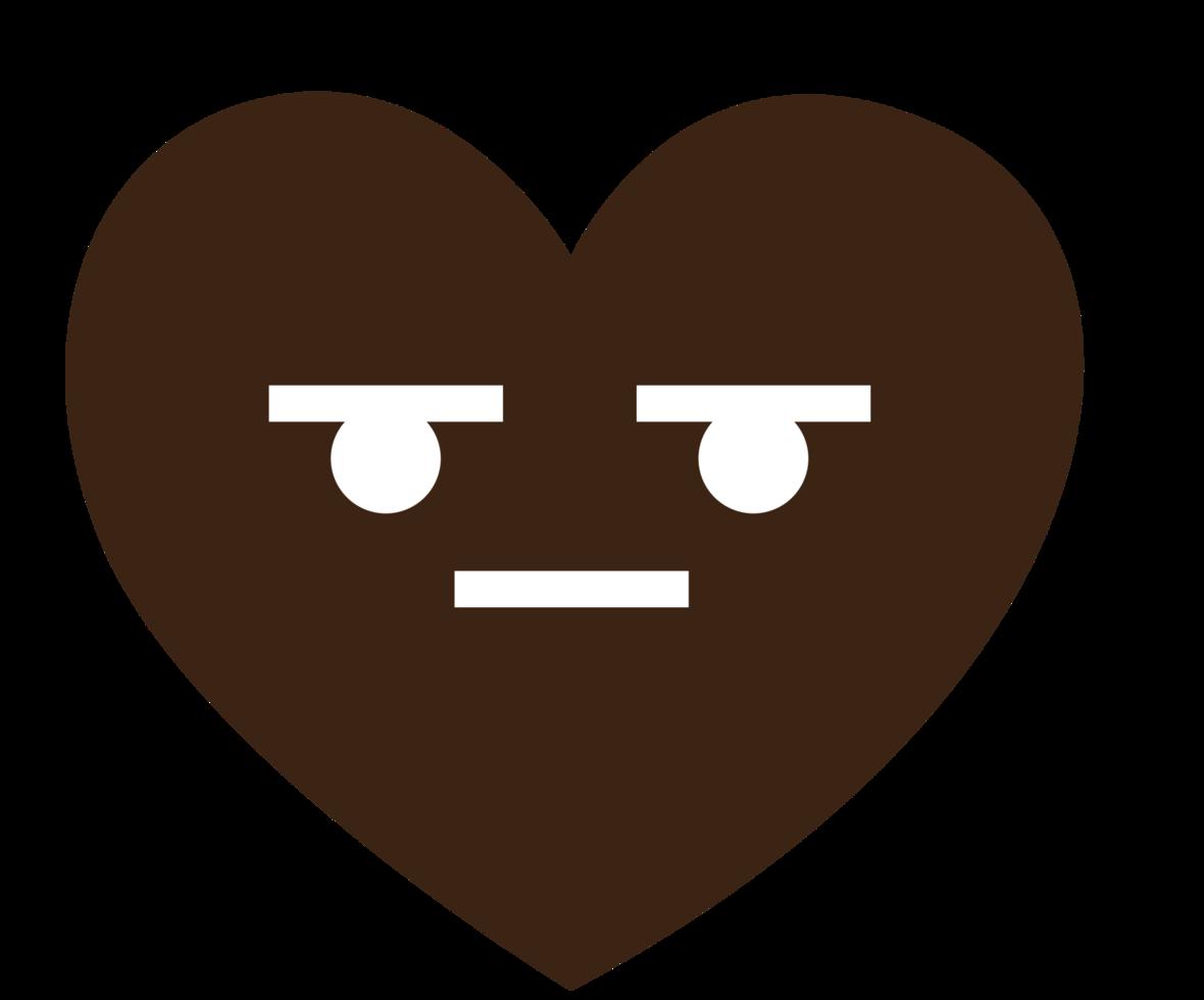 corazón emoji sin expresión png
