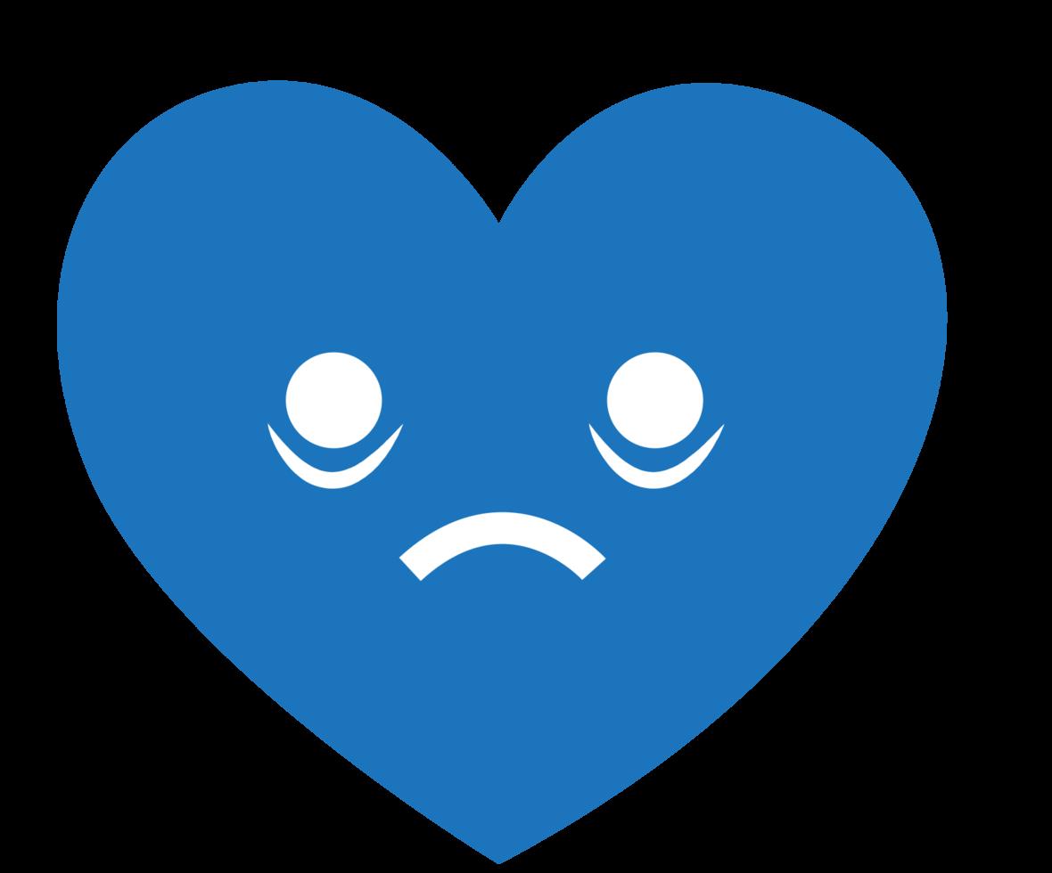 hjärta emoji blå png