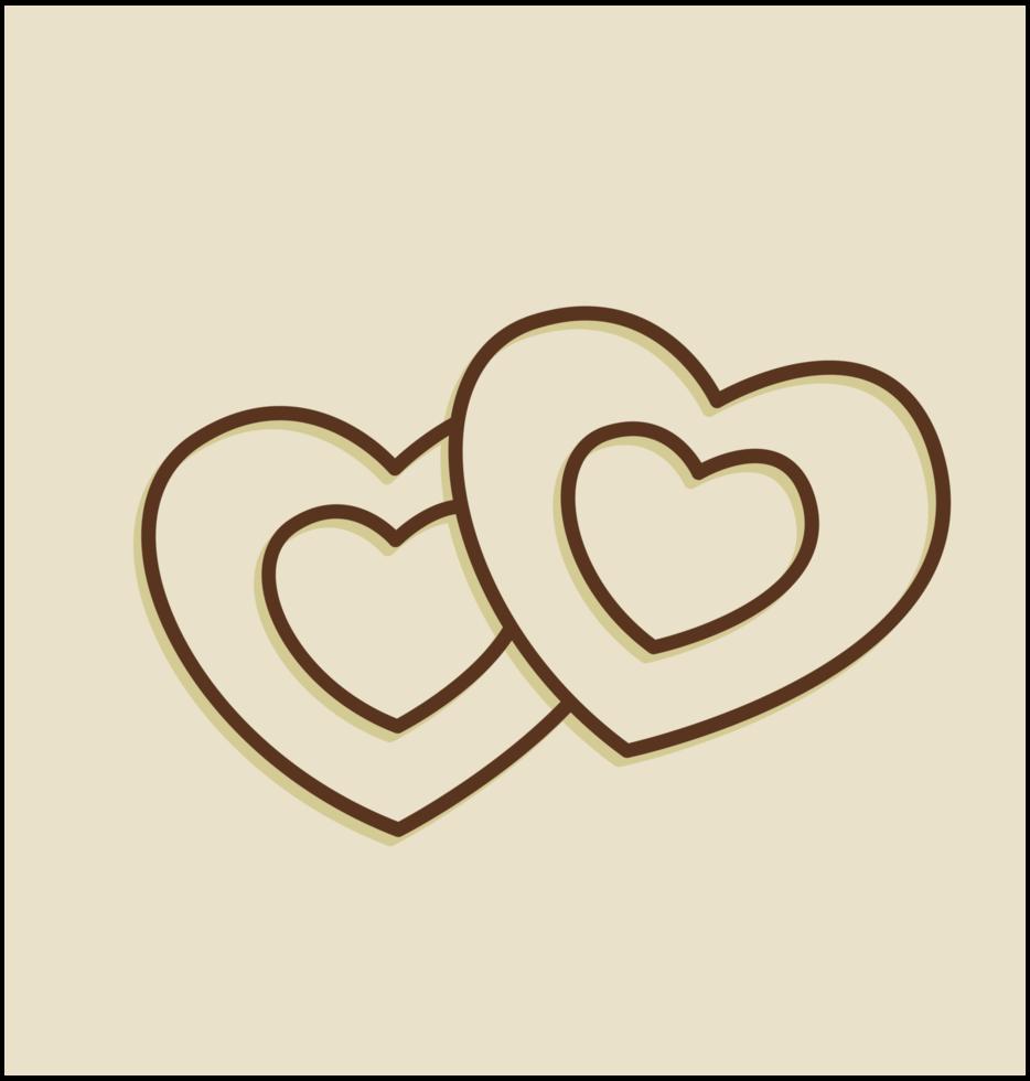 contorno del corazón png