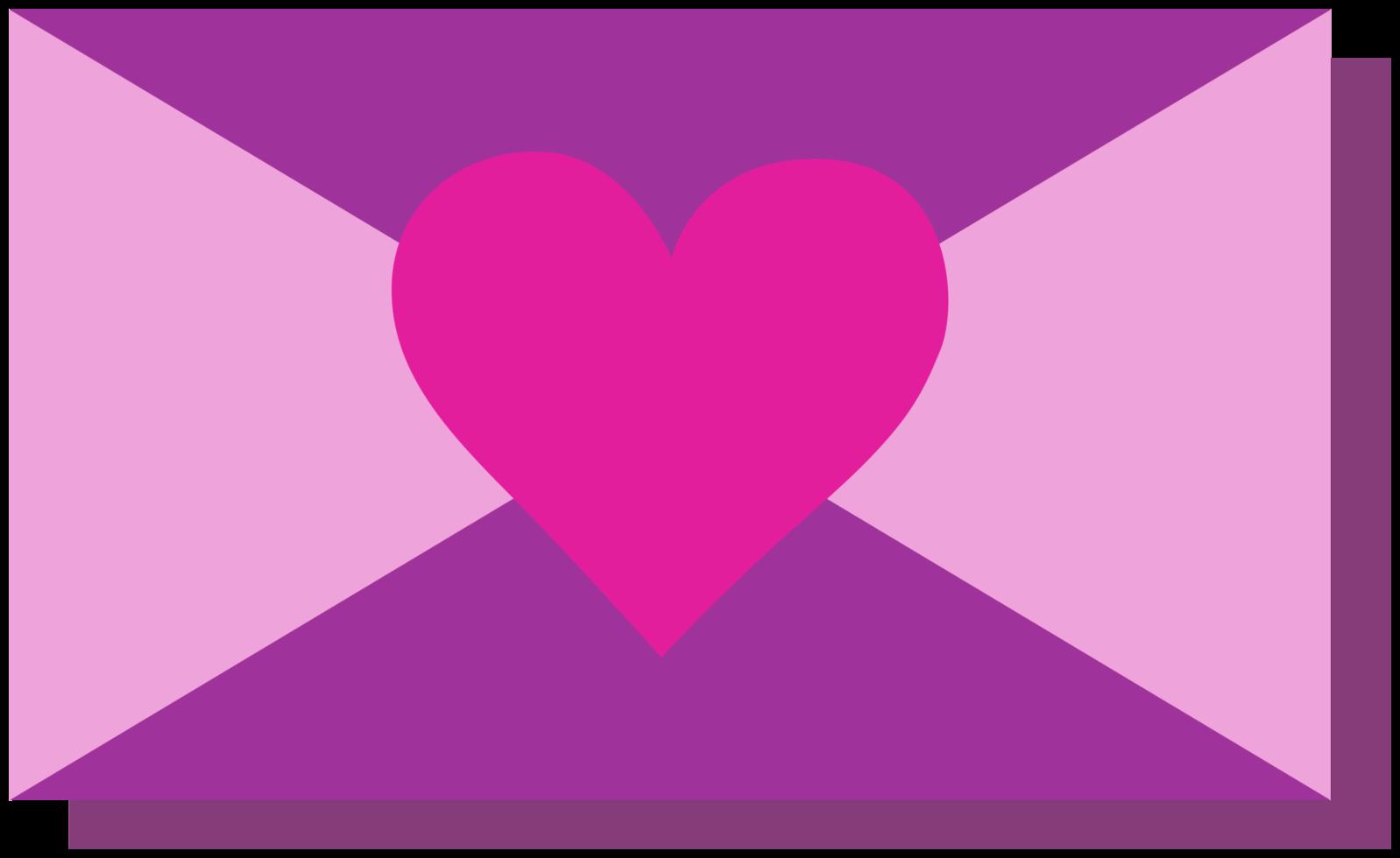 lettera del cuore png