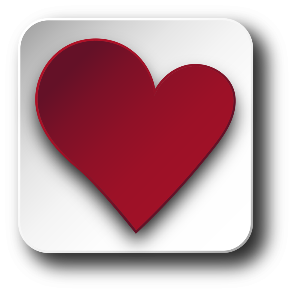 Heart rounded square png