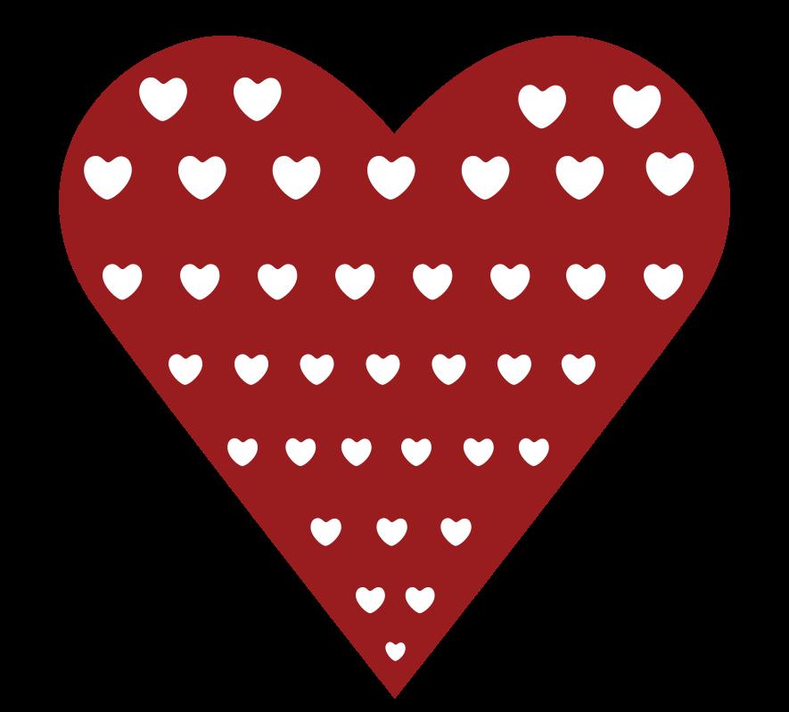 corazón con patrón png
