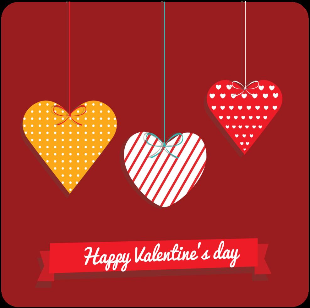 Herz Valentinskarte png