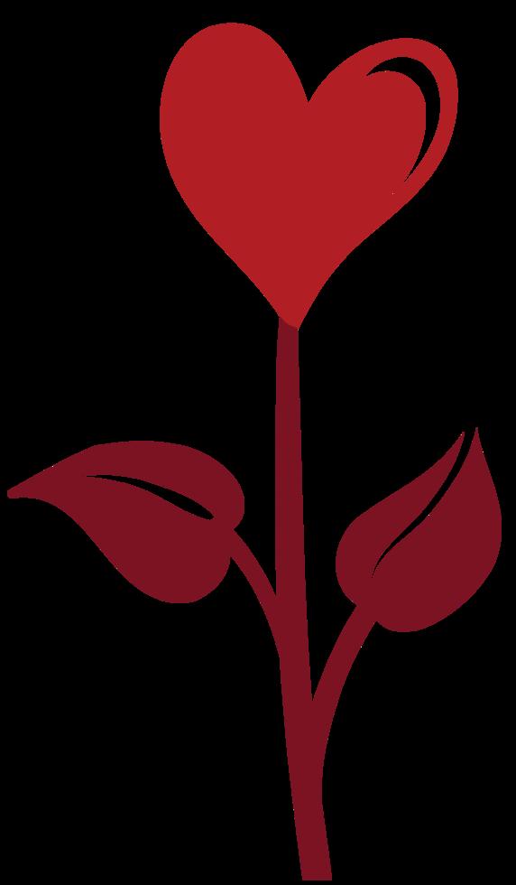 flor de corazon png