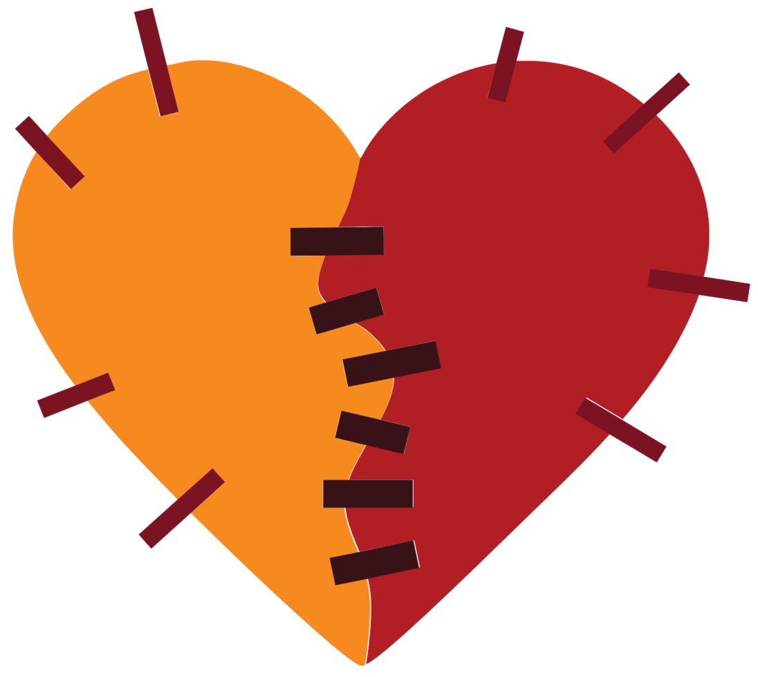 Heart patch png