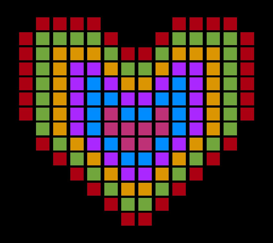 Herz pixelig png