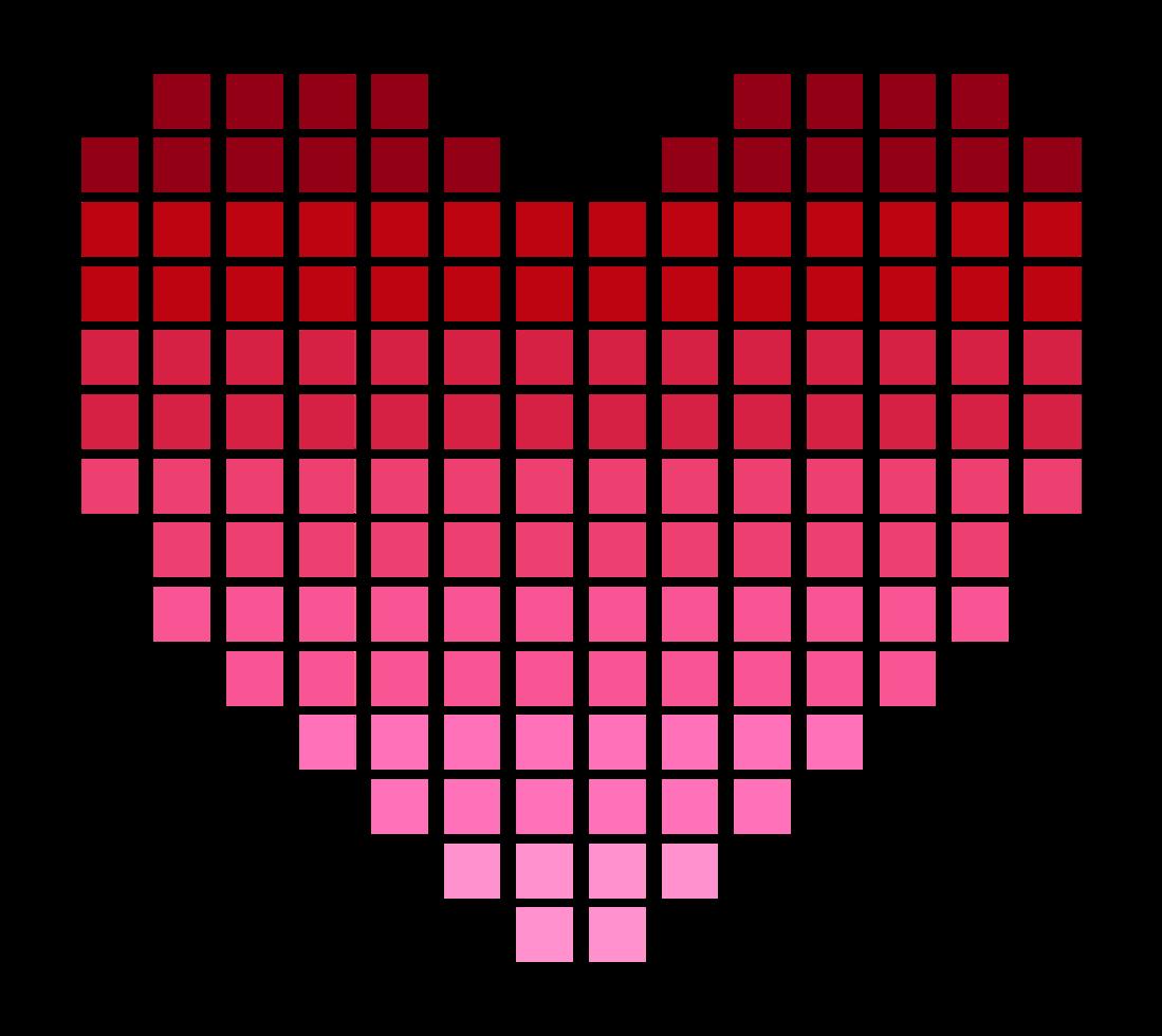 pixelate coração png
