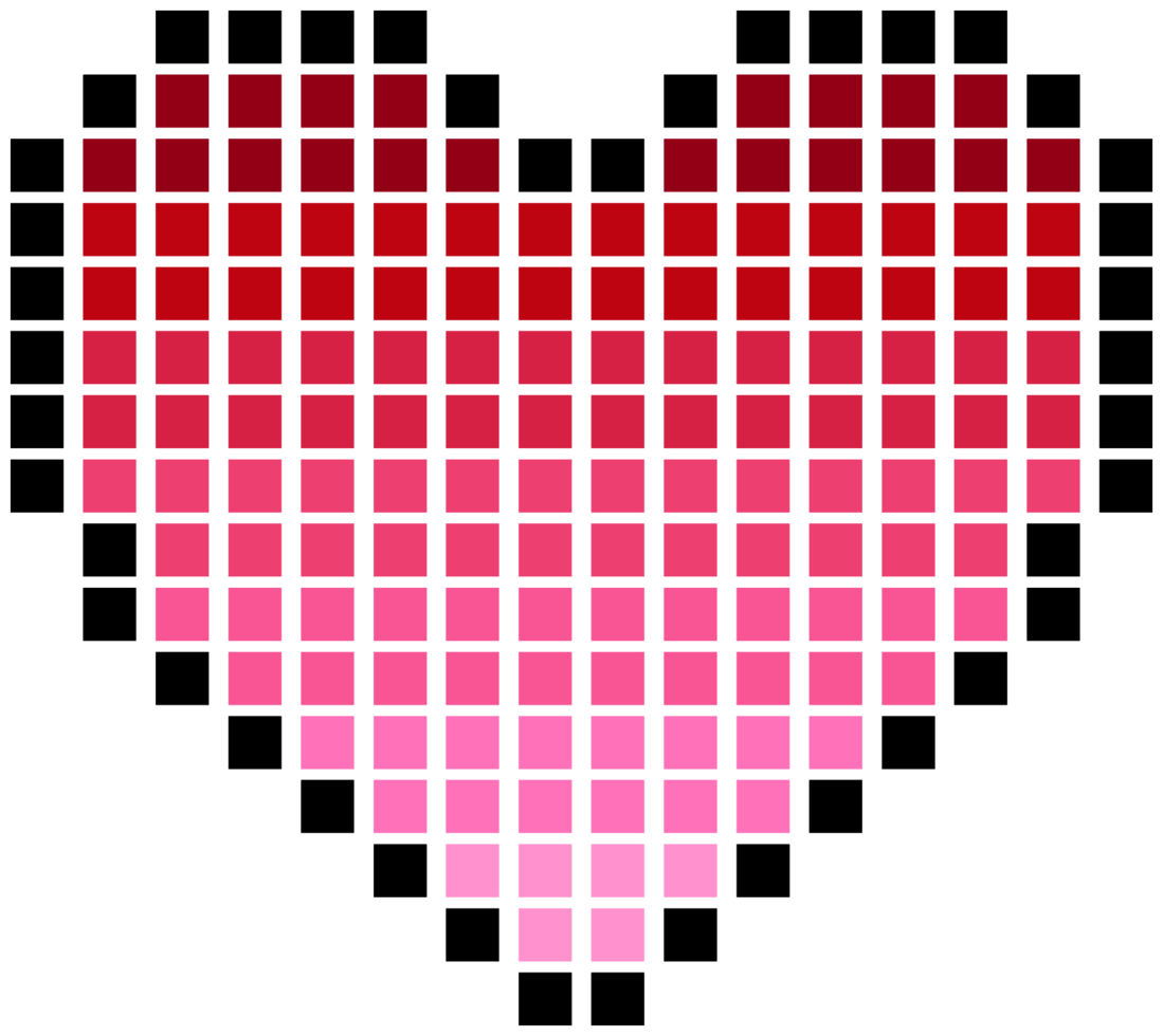 Heart pixelate png