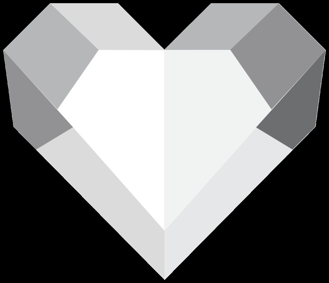 diamante del corazón png