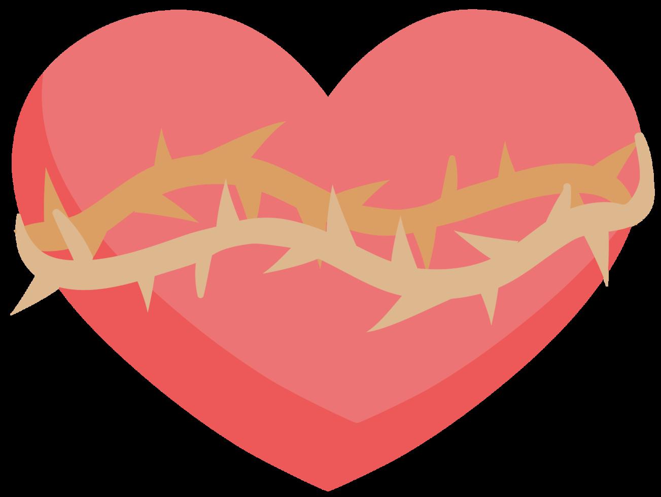 Herz mit Dorn png