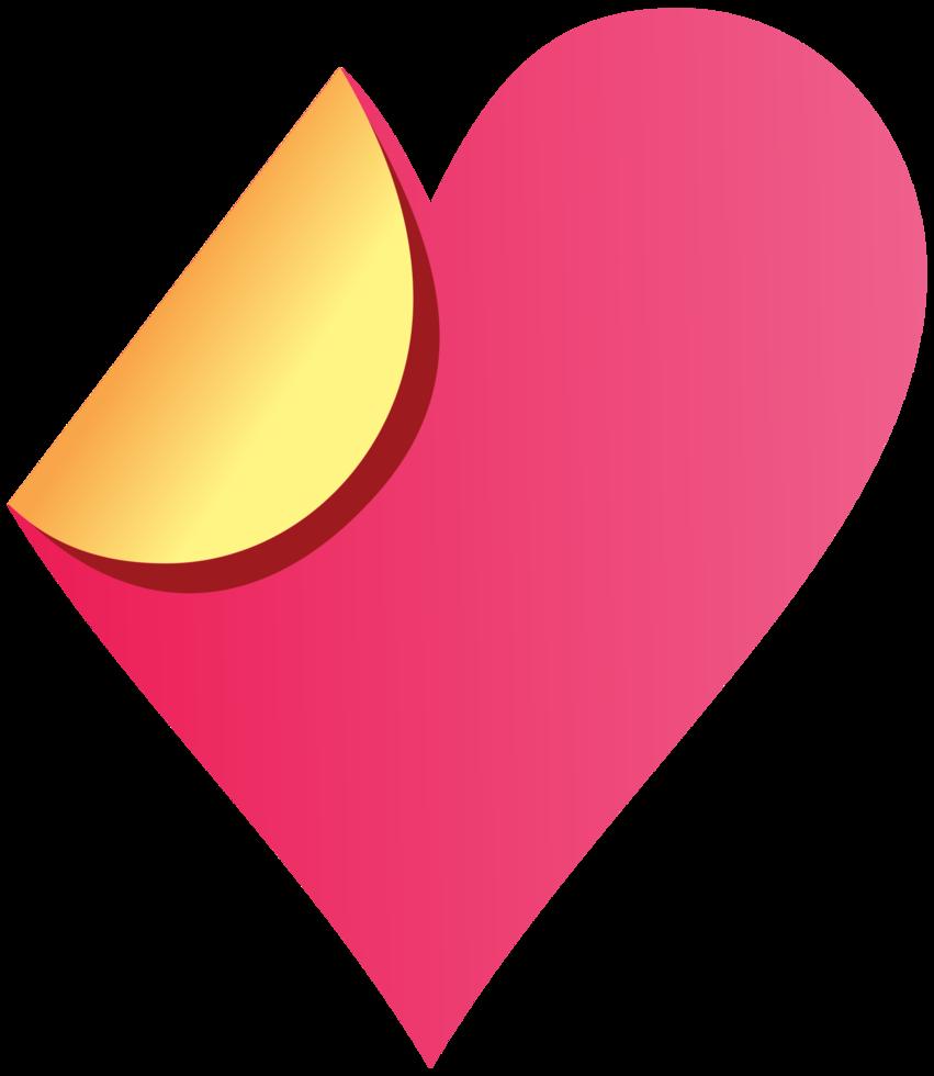 papel do coração flip png