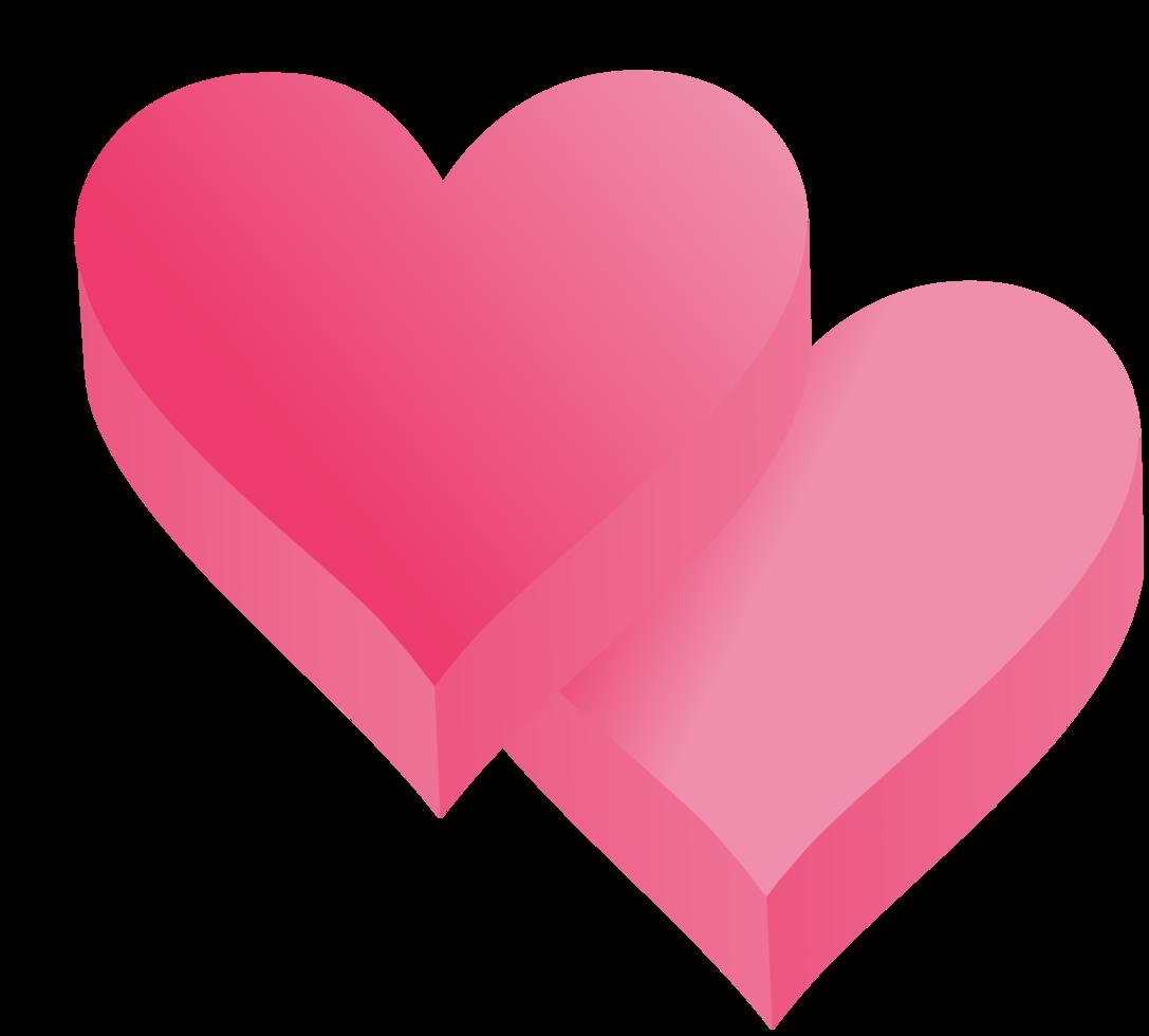 Herz 3d isometrisch png
