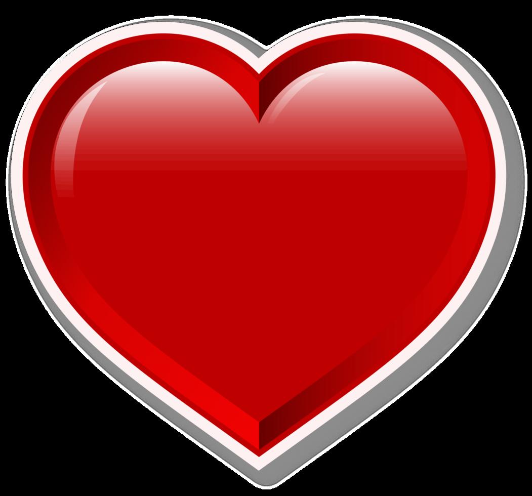 Herz 3d glänzend png