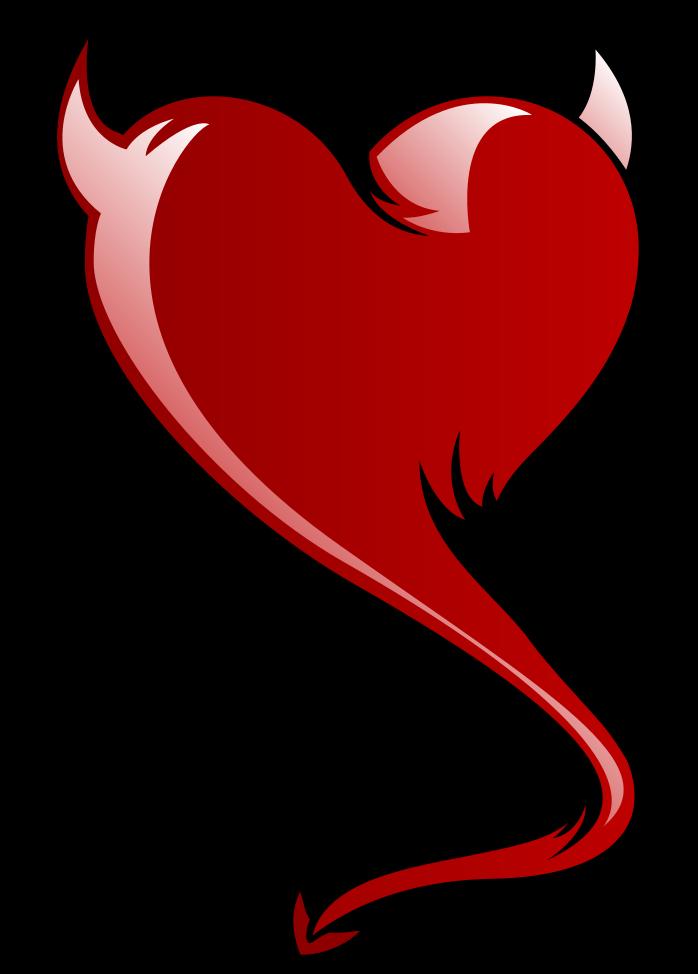 coeur avec tatouage de corne png