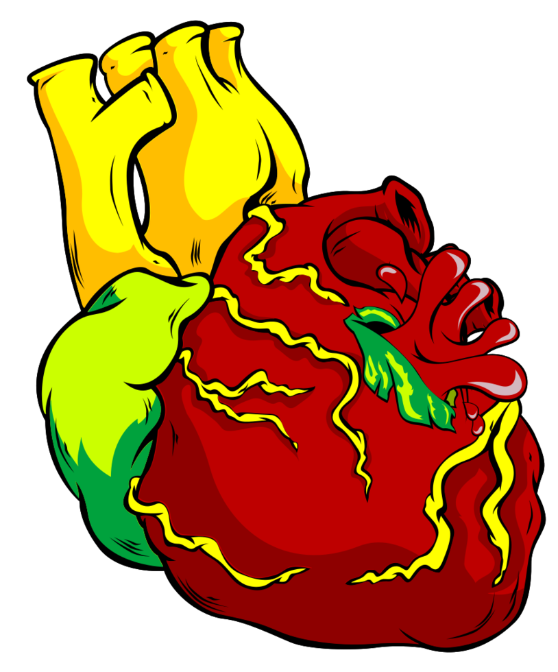 tatuaggio umano cuore png