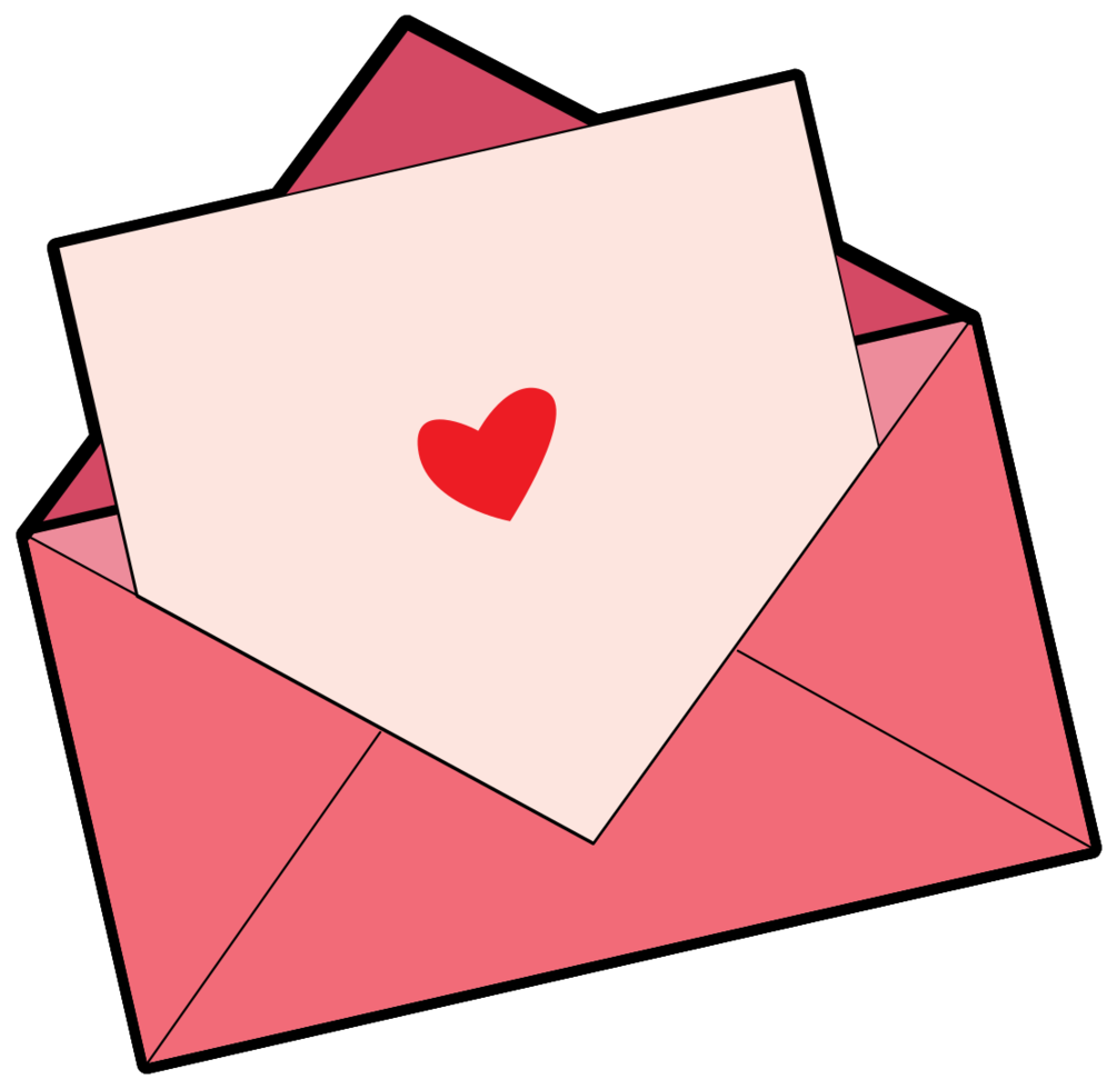 Heart letter png