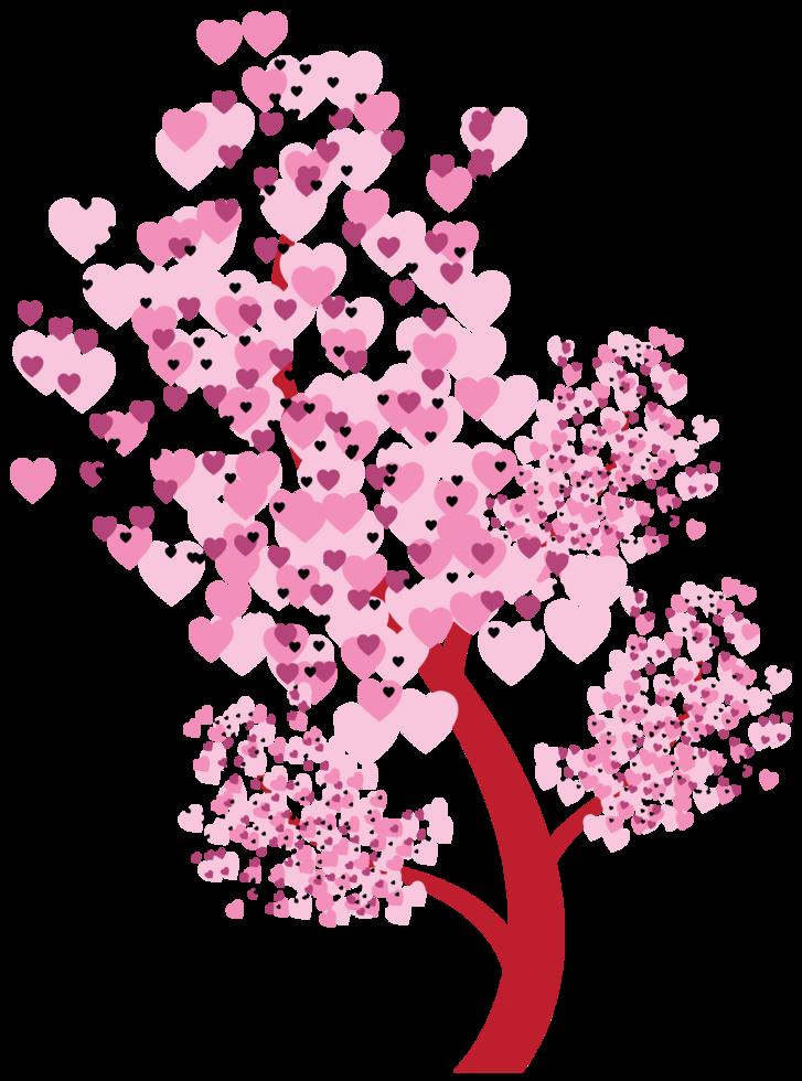 träd av hjärtan png