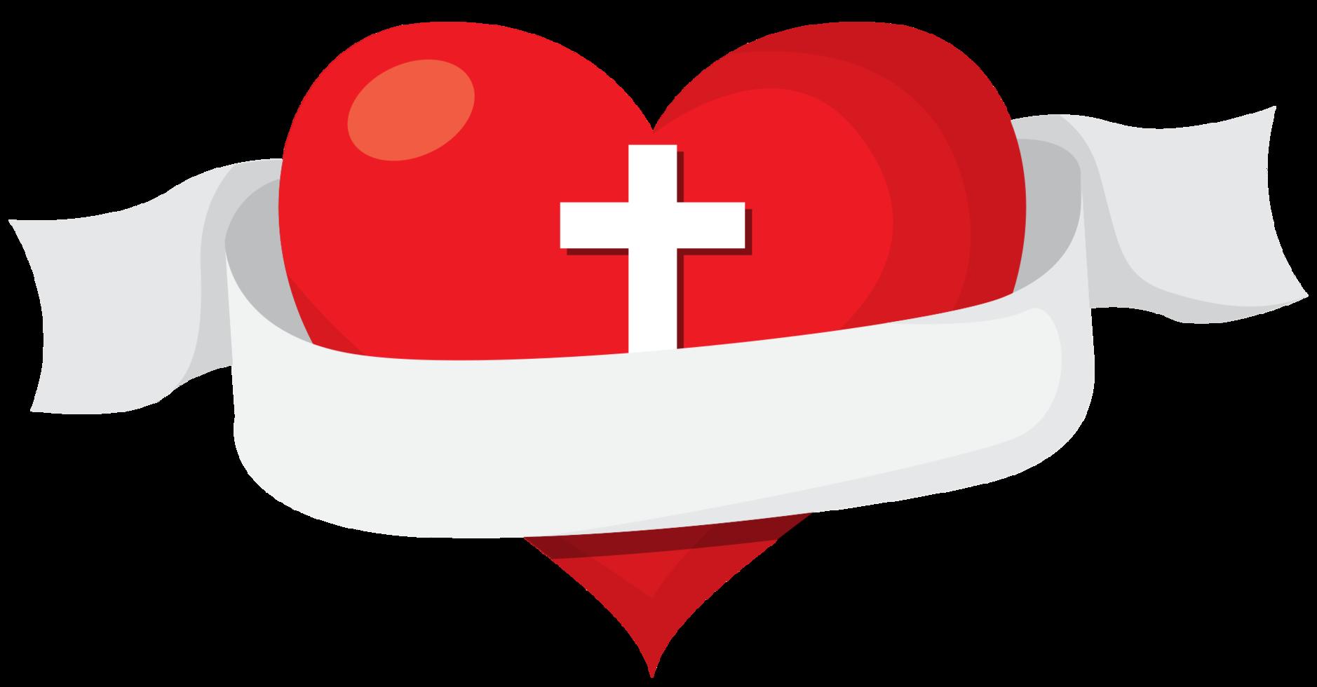 Sacred heart banner png